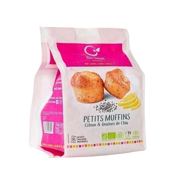 Bio Soleil - Petits muffins citron & graines de Chia x8 224g
