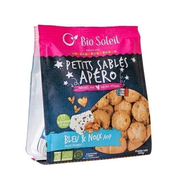 Bio Soleil - Petits sablés au Bleu et noix de Grenoble AOP 100g
