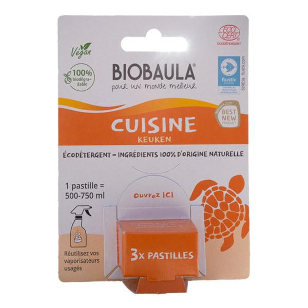 Biobaula - Pastilles de nettoyage écologiques Cuisine x3