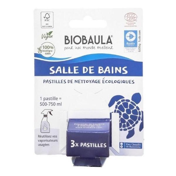 Biobaula - Pastilles de nettoyage écologiques Salle de bain x3