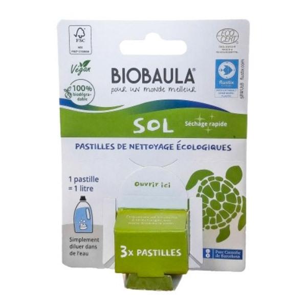 Biobaula - Pastilles de nettoyage écologiques Sols x3