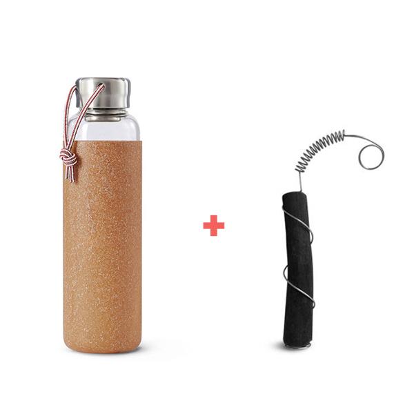 Black & Blum - Pack Bouteille en verre 60cl Almond et charbon actif