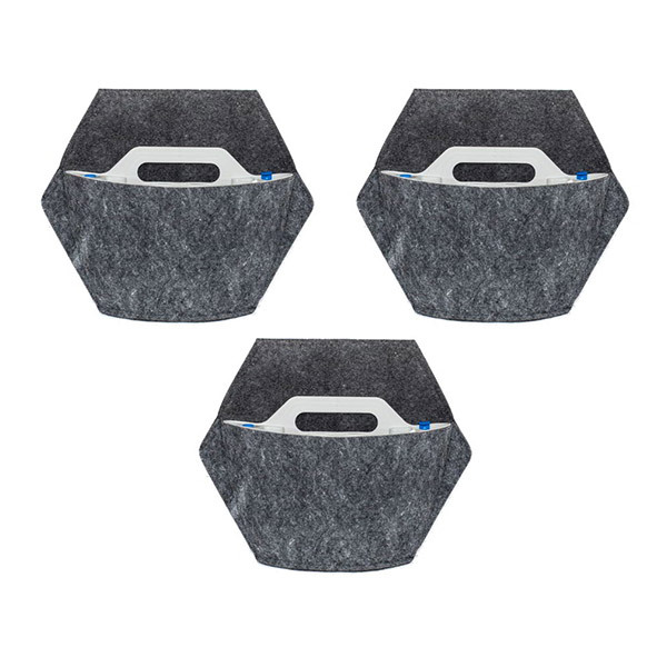 Citysens - 3 pots muraux à arrosage automatique et housse textile
