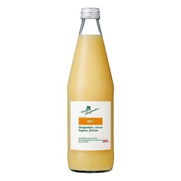 Dame Gingembre - Concentré de jus de gingembre miel Bio 500ml