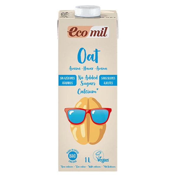 EcoMil - Boisson avoine calcium sans sucre ajouté Bio 1L