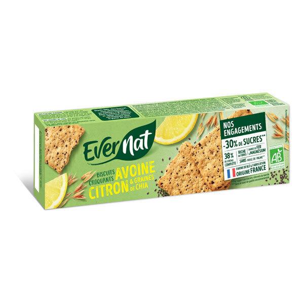 Evernat - Croquants avoine citron chia 130g