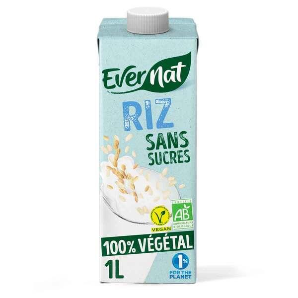 Evernat - Douceur riz sans sucres 1L