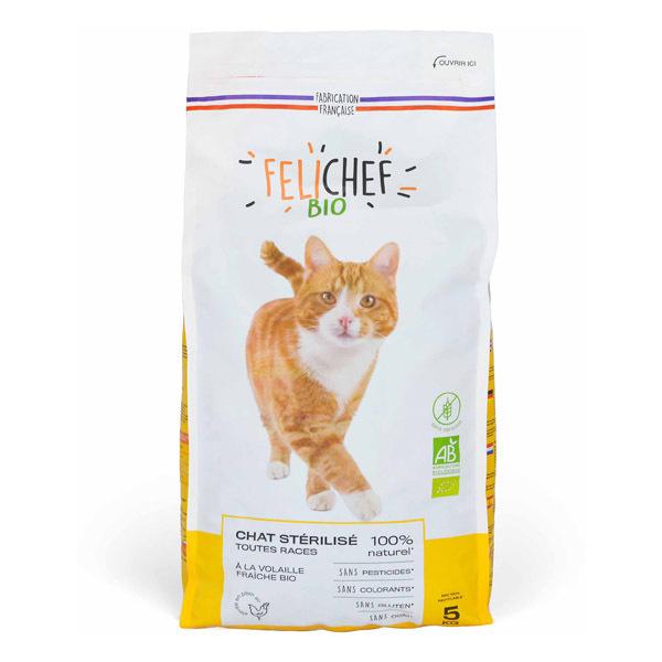 Felichef - Croquettes sans céréales chat stérilisé Volaille 5kg