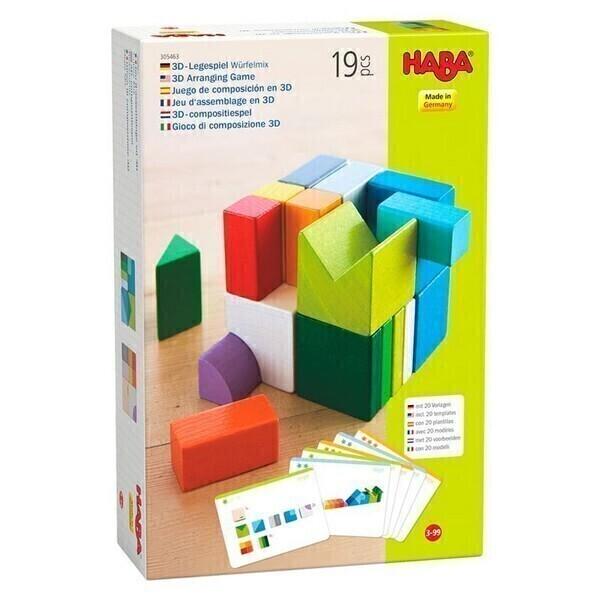 Haba - Jeu d'assemblage en 3D Cubes Mix - Dès 3 ans