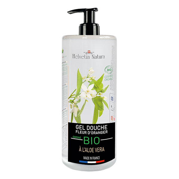Helvetia Natura - Gel douche Aloe vera Fleur d'oranger 1L