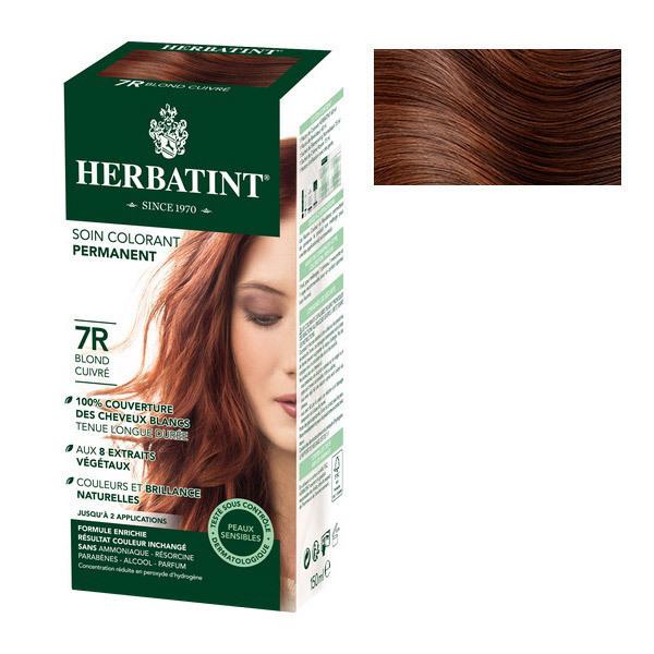 Herbatint - Soin colorant permanent naturel 7R Blond cuivré 150ml