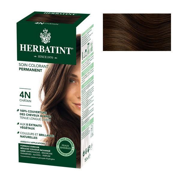 Herbatint - Soin colorant permanent naturel 4N Chatain 150ml
