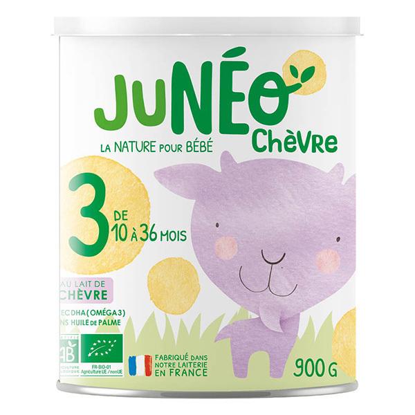 Junéo - Lot de 3xLait de chèvre infantile bio 3ème âge - De 12 à 36m