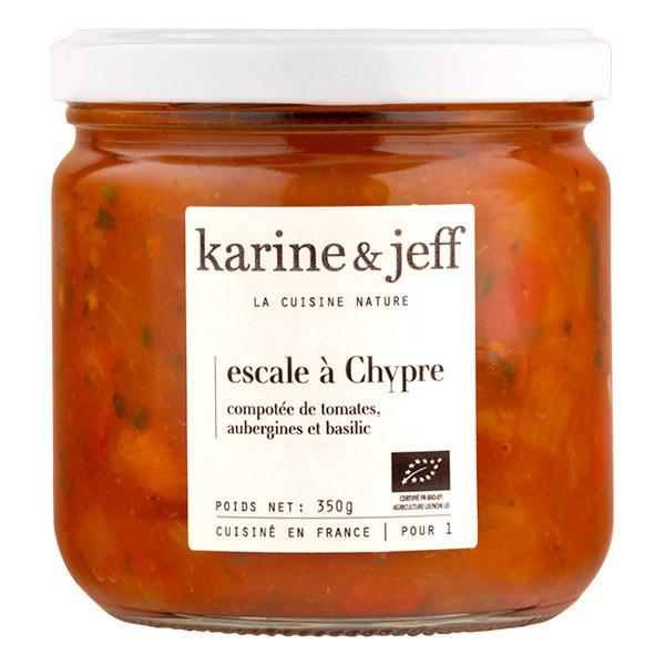 Karine & Jeff - Compotée de tomates, aubergines et basilic 350g