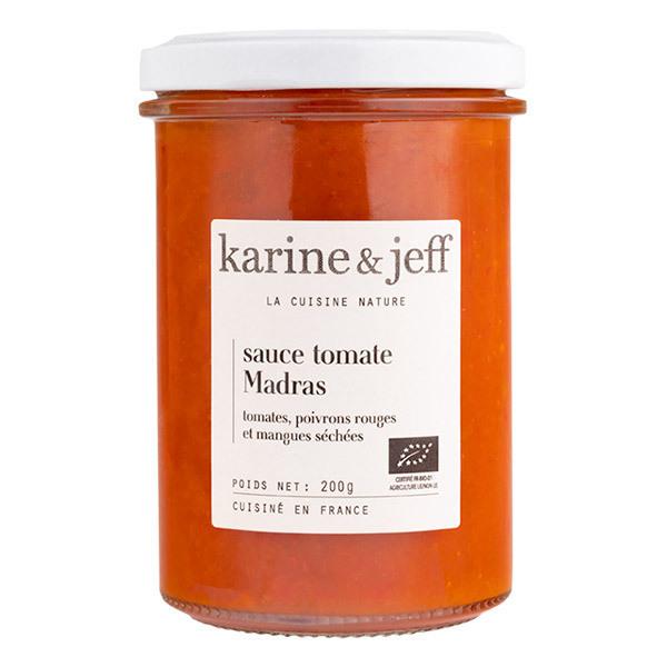 Karine & Jeff - Sauce Madras tomates, poivrons rouges & mangues séchées 200g