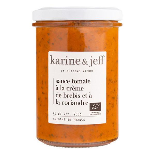 Karine & Jeff - Sauce tomate à la crème de brebis et à la coriandre 200g