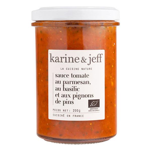Karine & Jeff - Sauce tomate au parmesan, basilic et pignons de pin 200g
