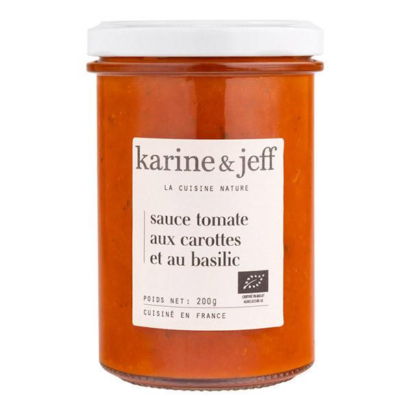 Karine & Jeff - Sauce tomate aux carottes et basilic 200g