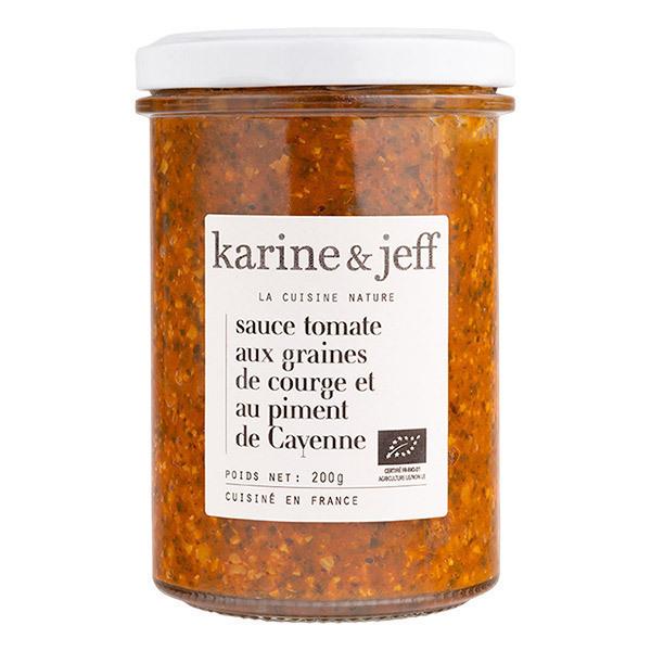 Karine & Jeff - Sauce tomate aux graines de courge et piment de Cayenne 200g
