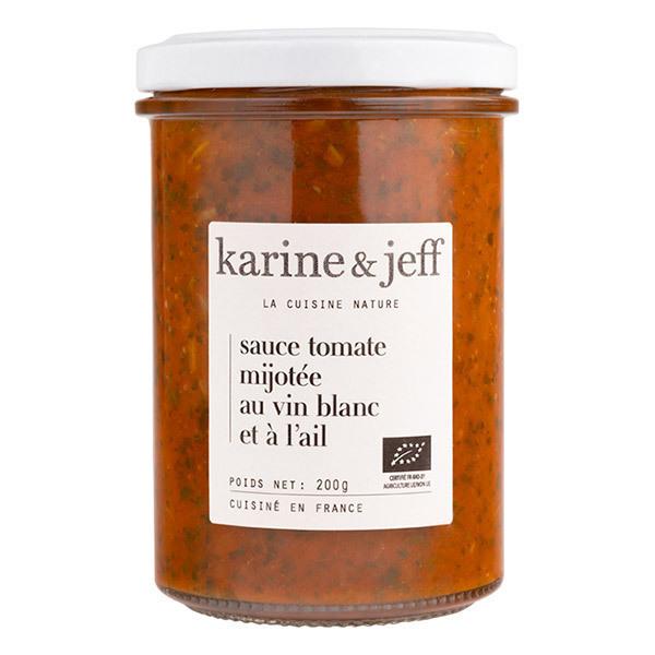 Karine & Jeff - Sauce tomate mijotée au vin blanc et à l'ail 200g