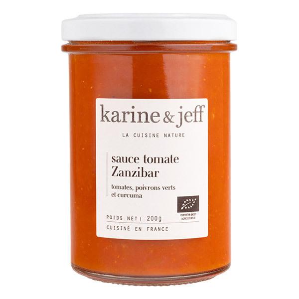 Karine & Jeff - Sauce Zanzibar aux tomates, poivrons verts et curcuma 200g