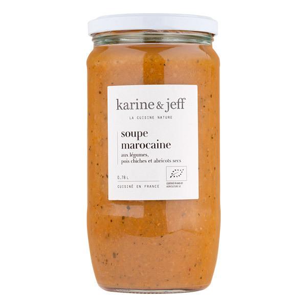 Karine & Jeff - Soupe Marocaine aux légumes, pois chiches et abricots secs 78cl