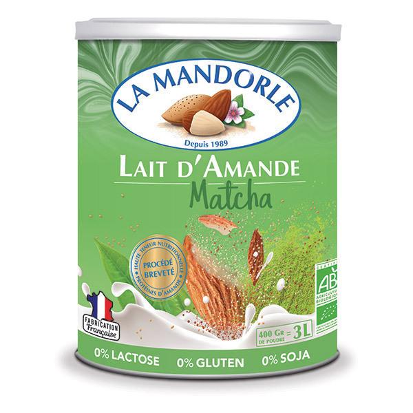La Mandorle - Lait d'amande au matcha en poudre 400g