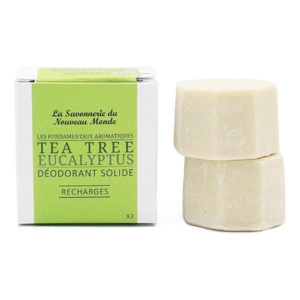 La Savonnerie du Nouveau Monde - Recharges déodorant solide eucalyptus et tea tree 2x30g