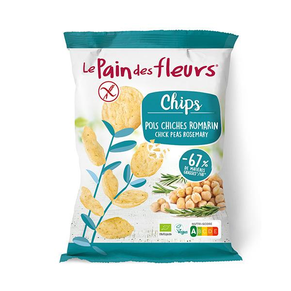 Le pain des fleurs - Chips aux pois chiches et romarin 50g