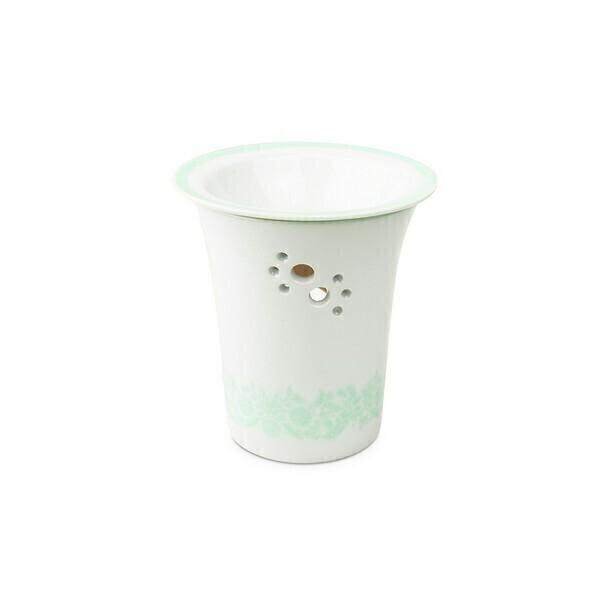 Les Encens du Monde - Diffuseur en porcelaine Jasmin pour résines d'encens