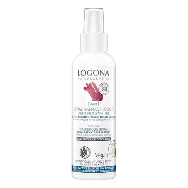 Logona - Spray rafraîchissant anti-rougeurs à l'algue rouge 125ml