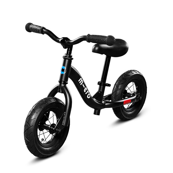 Micro - Draisienne Balance Bike noir Pneus gonflables - Dès 2 ans