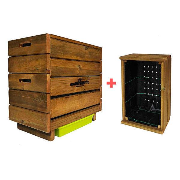 multiHuerto - Pack Lombricomposteur Frutero 2 plateaux + kit d'extension