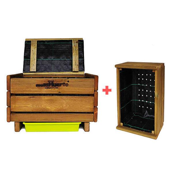 multiHuerto - Pack Lombricomposteur Frutero 1 plateau + kit d'extension