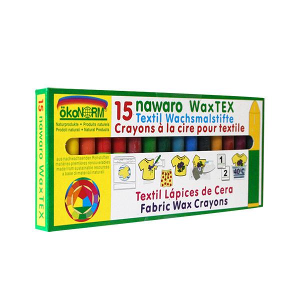 Okonorm - 15 Crayons à la cire pour textile - Dès 4 ans