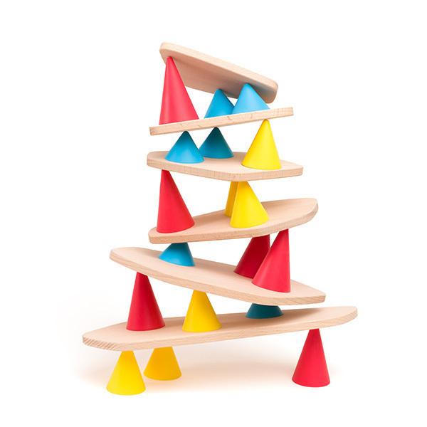 OPPI - Kit de Construction Piks Small en bois, 24 pièces - Dès 3 ans