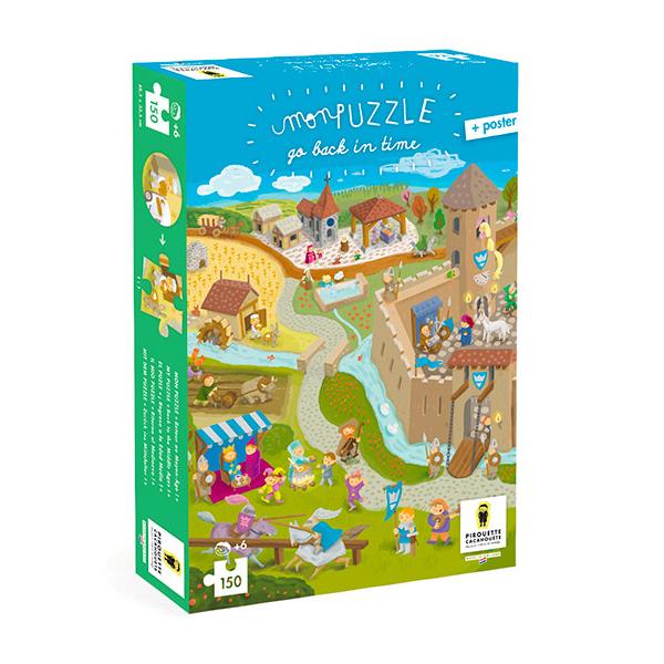 Pirouette cacahouete - Mon puzzle - Retour au moyen âge - Dès 6 ans
