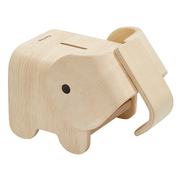 Plan Toys - Tirelire éléphant en bois