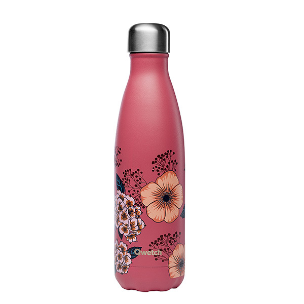 Qwetch - Bouteille isotherme inox Anémones 50cl