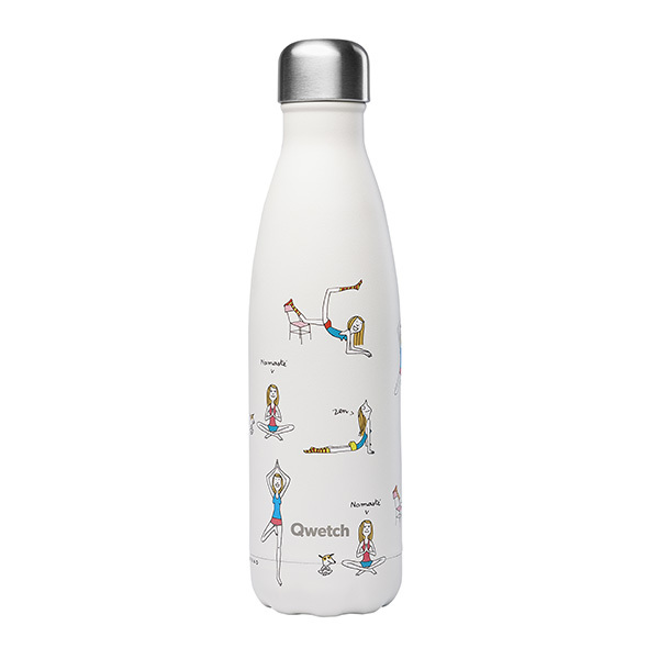 Qwetch - Bouteille isotherme inox Yoga 50cl