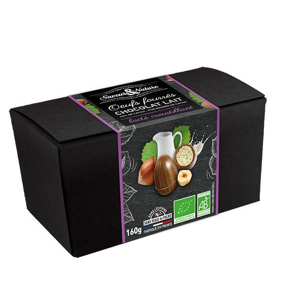 Saveurs & Nature - Ballotin d'oeufs fondants et croustillants au chocolat lait 160g