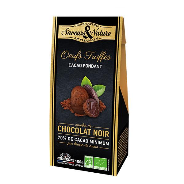 Saveurs & Nature - Oeufs truffés au cacao fondant 100g
