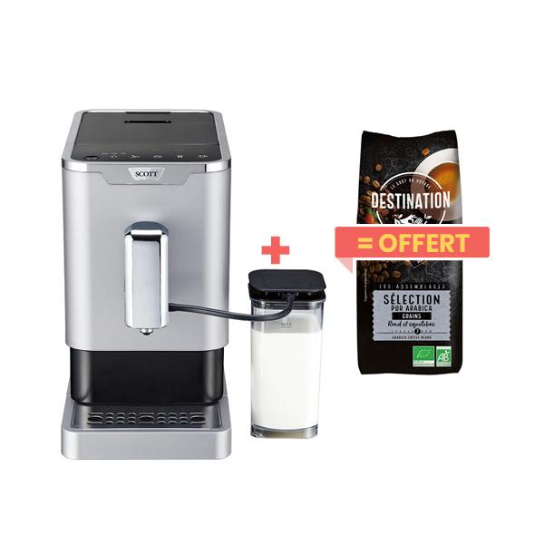 Scott - Machine à café Slimissimo Intense Milk + 1kg café grains offe