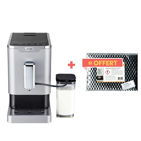 Scott - Machine à café Slimissimo Intense Milk + kit de détartrage of