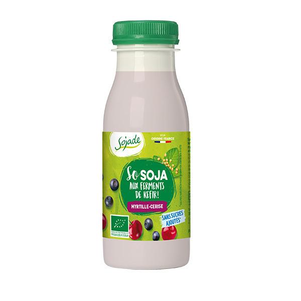 Sojade (Frais) - Sojade aux ferments de kefir Myrtille Cerise 250g
