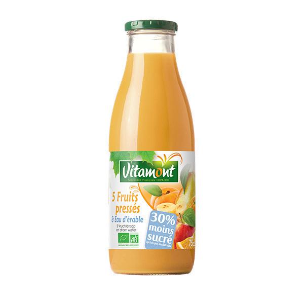Vitamont - 5 fruits pressés et eau d'érable 75cl