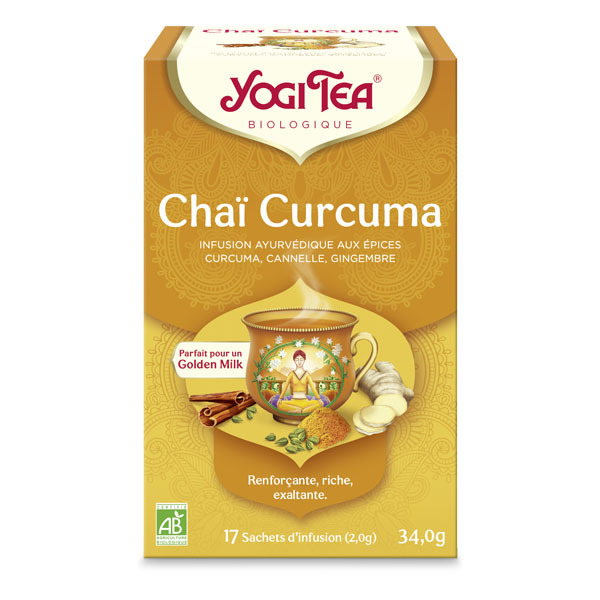 Yogi Tea - Infusion Chaï Curcuma 17 sachets