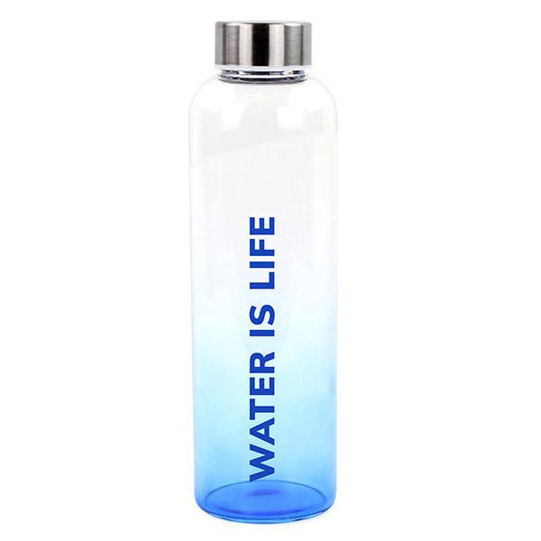 Yoko Design - Bouteille en verre Water is life 1L