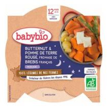 Babybio - Assiette butternut, pommes de terre, fromage dès 12 mois 230g