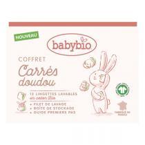 Babybio - Coffret Carrés Doudou - 12 lingettes + filet de lavage